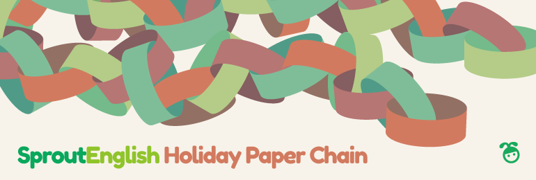 Minimal Pair Holiday Paper Chain Craft