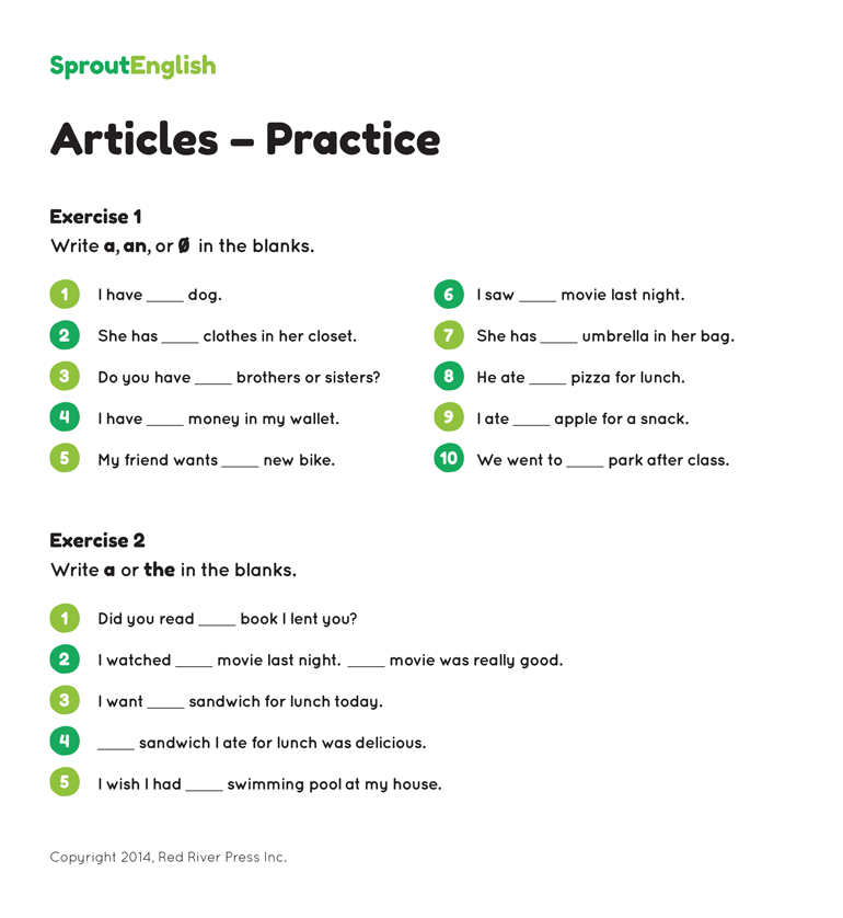 an+The+Articles+Exercises Download the Articles Exercises PDF